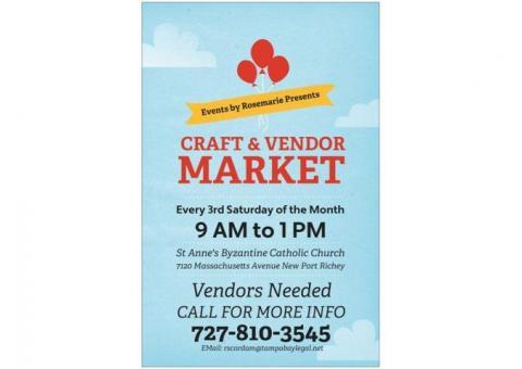 3rd Saturday Vendor & Craft Market