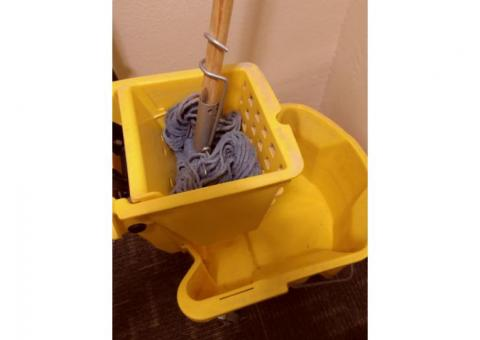 cleaning bucket,mop