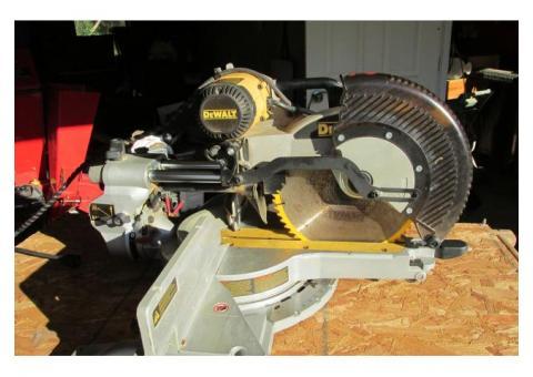 Used Dewalt miter saw